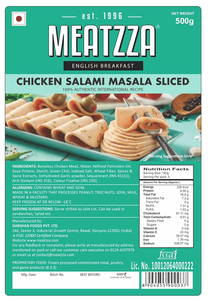 0033-034-01 chicken salami masala sliced 500gm